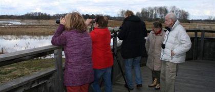 Kvismaren 2012-04-15 Lötenplattformen vid Rysjön. Foto: Uno Milberg