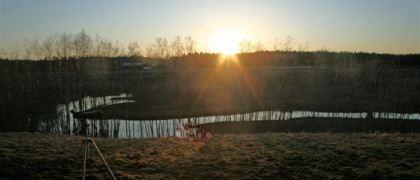 Solnedgång över Kedjan 2012-04-04. Foto: Uno Milberg.