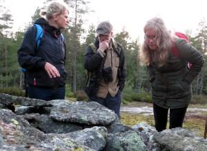 Annika, Christer och Ingrid på Gällberget